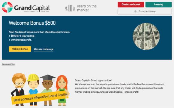 Grand-Capital $500 odbierz za darmo w 2017 roku